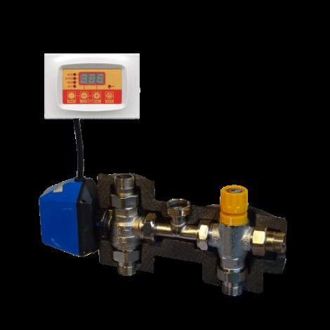 Kit motorizzato di deviazione impianto solare - caldaia