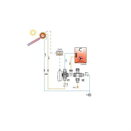 Kit motorizzato compatto impianto solare - caldaia